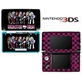 Monster High Ghoul Hot Pink Skull Decorative Video Game Decal Cover Skin Protector for Nintendo 3Ds (not 3DS XL)