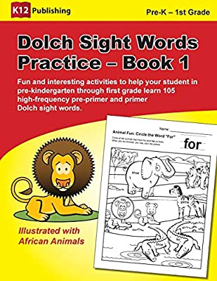 Dolch Sight Words Practice Book 1 Fun And