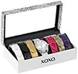 Image of XOXO Women's XO9062 Silver-Tone Watch with Interchangeable Bands