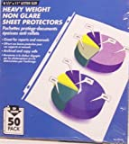 Heavy Weight Non Glare Sheet Protectors 50 Pack by Office Depot