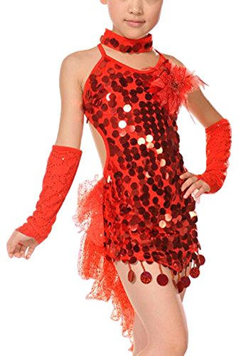 Alien Storehouse [Enthusiasm] Latin Dancing Dress Girl's Sequins Latin Dance Costumes