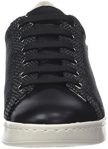 Leather Sneakers Shoes Omaya A D Womens Black Casual Geox v5Xqw57