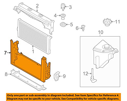 GENUINE BMW Radiator Carrier 17117804617:
