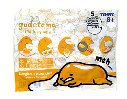 TOMY Gudetama The Lazy Egg Dangler 3 Blind Packs