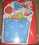 10 Surprise Balloon Birthday Party Invitations with Envelopes