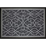 Kashi Home Normandy Collection Contemporary Geometric Inspired Decorative Accent Egyptian Area Rug, Grey, 20'' x 30''