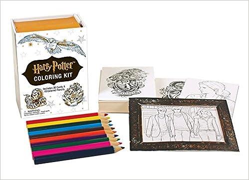 amazoncom harry potter coloring kit 9780762460977 running press books