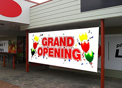 UGOS Grand Opening Banner Sign Store Signs Flag (18