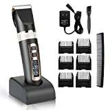 Hair-Clippers-Professional-Cordless-Hair-Trimmer-Grooming-Kit-Haircut3-Adjustable-speedsElectric-And-Rechargeable-with-Charging-base-6-Guide-combs-for-Adults-Men-Kids-and-Babies