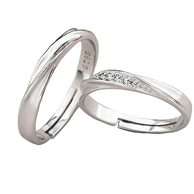 Amazon.com: TIDOO Jewelry - Anillos de pareja de plata de ...