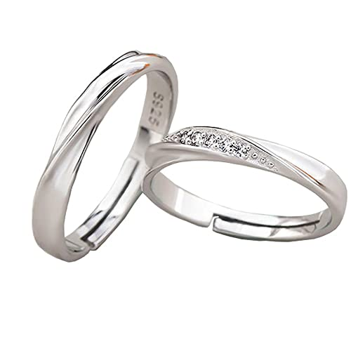 0e044d0f86 TIDOO Jewelry 925 Sterling Silver Simple Couples Rings The Best Gift for  Lover|Amazon.com