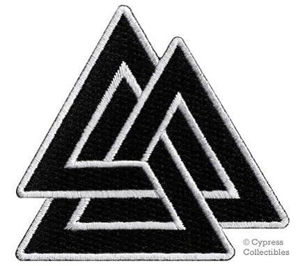 Amazon Valknut Triangle Patch Iron On Embroidered Norse Viking