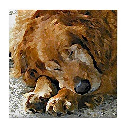 CafePress - Golden Retriever collectible dog art tile - Tile Coaster, Drink Coaster, Small Trivet ()