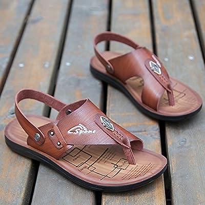 @Sandals Chaussons Cool Men'S Nouvelle Version Coréenne De L'Été Les Chaussures De Plage Skid Loisirs Fond Mou