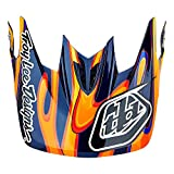Troy Lee Designs Adult D3 Visor Squirt BMX Helmet Accessories - Black/Orange/One Size