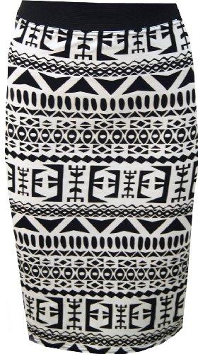 WearAll - Imprim midi jupe serr - Jupes - Femmes - Tailles 36  42 Grand Aztec