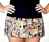 Unisex Grilling Flirty waiter waitress Kitchen Cooking Apron,100% Cotton fabric Apron with 3 Pockets Bengal tigers all over animal
