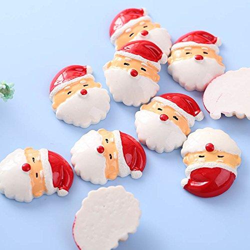 MingXiao 10Pcs Pelo de Santa Claus Fiesta Scrapbooking teléfono niñas Pelo Arco Manualidades DIY Suministro
