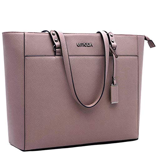 Laptop Tote Bag for Women,13-15.6 Inch Laptop Briefcase,Stand Up on its Own with Padded Compartment [Purple]