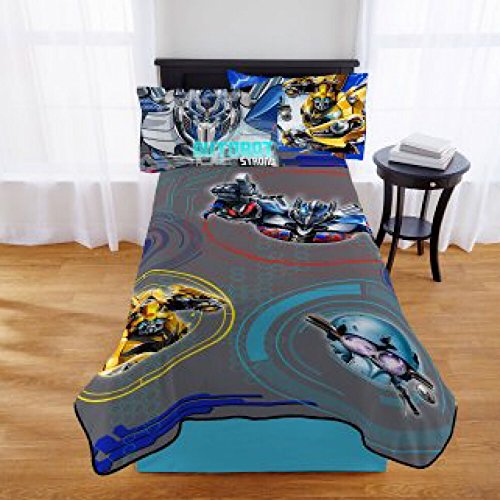 Transformers 5 Movie Kids Twin Bedding Plush Blanket