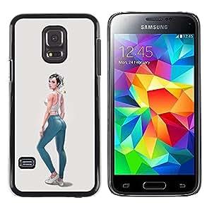 Paccase / SLIM PC / Aliminium Casa Carcasa Funda Case Cover para - sexy back jeans design fashion girl - Samsung Galaxy S5 Mini, SM-G800, NOT S5 REGULAR!