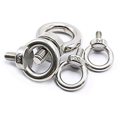 M3X9 304 Acero Inoxidable Rosca Macho Anillo de Elevación Ojo de Ojo Tornillos de Tornillo de Cojinete Maquinaria Hombro 10 UNIDS