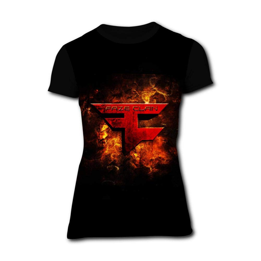 NNaseg Kids Casual Tee FA-Ze C-LAN Logo 3D Print Graphics T-Shirt for Boys Girls