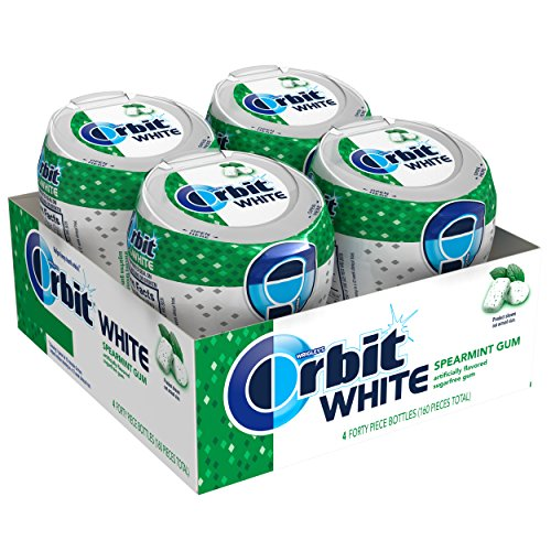Orbit White Spearmint Sugarfree Chewing Gum, 40 count (Pack of 4) - Wrigleys Orbit White Spearmint