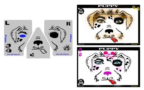 Face Painting Stencil - StencilEyes Puppy - Puppy/Dog -