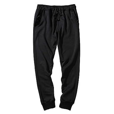 Moda para Hombre Pantalones De Color Puro Pantalones Agujeros ...