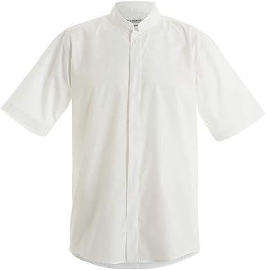 KUSTOM KIT - Camisa Entallada de Manga Corta con Cuello Chino/Mao Hombre Caballero - Trabajo/Fiesta/Verano: Amazon.es: Ropa y accesorios