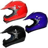 Leopard LEO-X15 Kids MX Motocross Helmet Children Motorbike Dirty Bike Helmet Gloss Black M (51-52cm)
