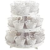 Wilton 1510-1002 Elegant White Cupcake Stand Kit