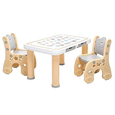 Jardín Mesas Los niños estudian la Mesa Mesa de casa y Dos Juegos de sillas Juguetes La Sala de Juegos de Aprendizaje de la habitación de los niños Puede soportar 250 kg