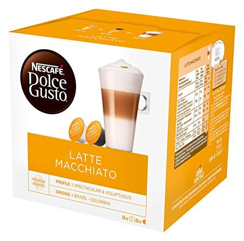 Nescafé Dolce Gusto Latte Macchiato, Paquete de 6, 6 x 16 Cápsulas (48 Tazas)
