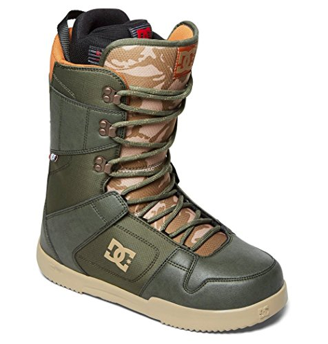 DC Men's Phase Lace Up Snowboard Boots, Army, 13