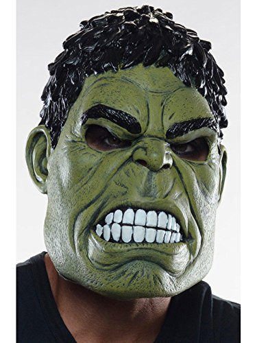 Rubie's Marvel Men's Avengers 2 Age Of Ultron Hulk Adult 3/4 Mask, Green, One Size