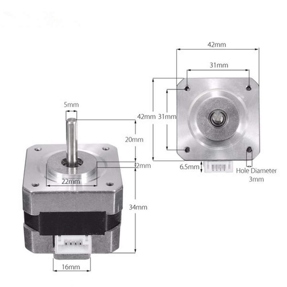 3D-Druck & Digitalisierung Asdomo NEMA 17 26N.cm 0.4A Schrittmotor 42mm Zweiphasen-Hybrid-Schrittmotor