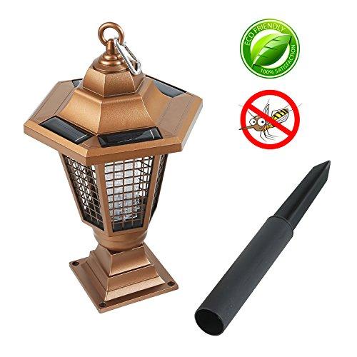 RYOMI Bug Zapper Solar Mosquito Killer with UV Light Trap Insect Catcher Pest Control Indoor (Solar Bug Killer Light)