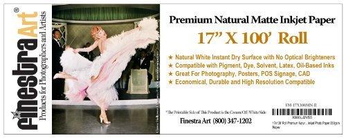 17x100' Roll Premium Natural Matte Inkjet Photo Paper 230gsm ()