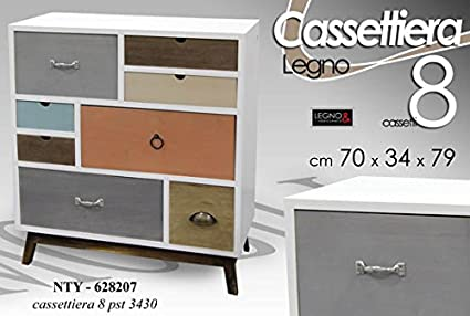 Credenza Moderna Vintage : Cassettiera cm credenza stile multicolore moderno vintage