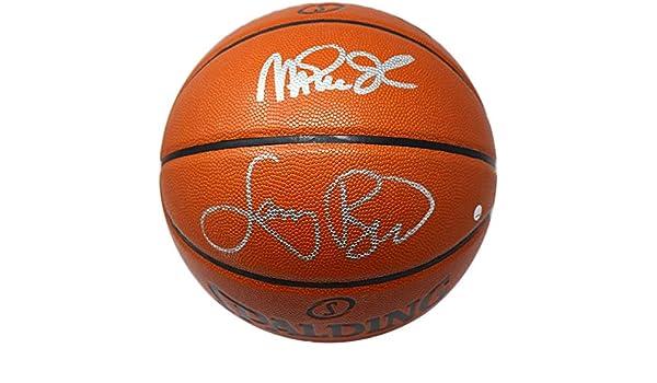 Magic Johnson and Larry Bird Dual Signed NBA I O Basketball at Amazon s  Sports Collectibles Store 258ba15f0