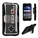 Cheap ZTE Grand X3 Case, DuroCase Hybrid Dual Layer Combat Armor Style Kickstand Case w/ Belt Clip Holster Combo for ZTE Grand X 3 (X3) Z959 (Released in 2016) – (Game Controller)