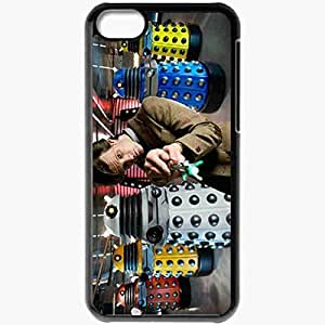 Personalized iPhone 5C Cell phone Case/Cover Skin Matt Smith Daleks Doctor Who Series Black hjbrhga1544