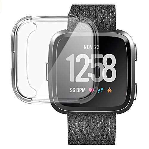 Case for Fitbit Versa,Soft TPU Clear Cover