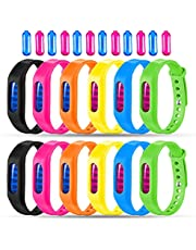 Mosquito Repellent Bracelet 12 Pack Natural Mosquito Repellent Band Safe for Kids Adults Waterproof Mosquito Repellent Wristband Indoor Outdoor Protection UP to 720Hrs (12 Extra Refills)