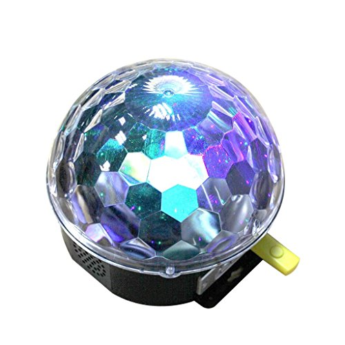 HuntGold 1X LED RGB MP3 Club Party Celebration Music Crystal Magic Ball Stage Effect Light by HuntGold