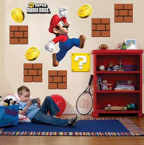 BirthdayExpress Super Mario Bros Party Supplies Wall Decals -