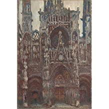 Oil painting 'Rouen Cathedral, Harmony in Brown, 1894 By Claude Monet' printing on high quality polyster Canvas , 20x29 inch / 51x74 cm ,the best Kids Room artwork and Home artwork and Gifts is this Beautiful Art Decorative Canvas Prints