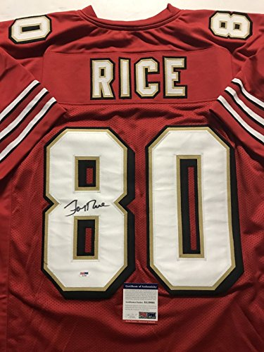 Autographed/Signed Jerry Rice San Francisco Red Football Jersey PSA/DNA - Jerry Rice Signed Jersey